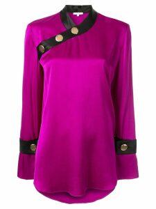 Layeur button shoulder blouse - PURPLE