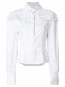 Jacquemus pinstripe structured flap shirt - White