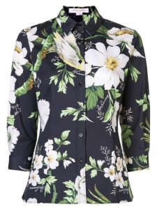 Carolina Herrera printed floral shirt - Black