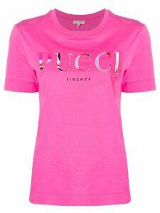 Emilio Pucci Burle Print Logo T-shirt - PINK
