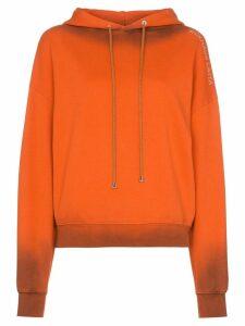 Eckhaus Latta ombre effect hoodie - ORANGE