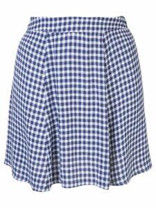 Reformation check print flounce skirt - Blue