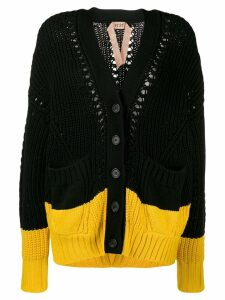 Nº21 two tone knitted cardigan - Black