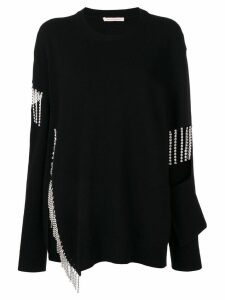 Christopher Kane crystal cut out jumper - Black