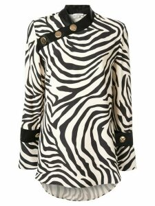 Layeur zebra print blouse - White