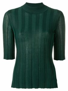 Sonia Rykiel fitted ribbed jumper - Green