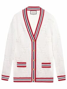 Gucci Sylvie Web knitted cardigan - White