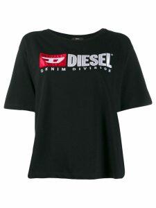 Diesel contrast logo T-shirt - Black