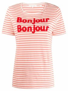 Chinti and Parker bonjour T-shirt - PINK