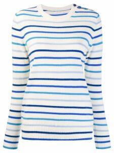 Chinti & Parker striped sweater - White