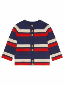 Gucci Striped wool cardigan - Blue