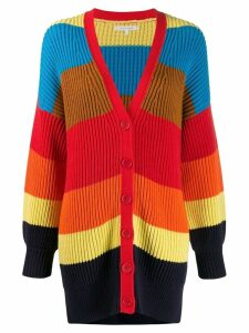 Chinti and Parker striped knit cardigan - Blue