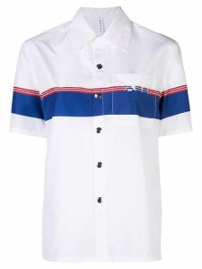 Adam Selman Sport Coach logo stripe shirt - White