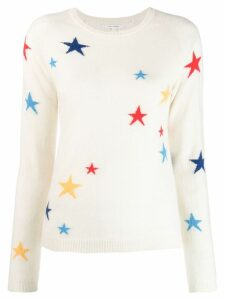 Chinti and Parker star print jumper - White