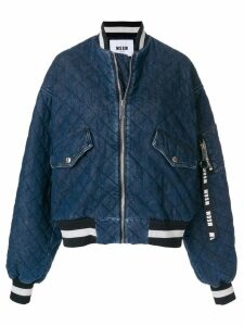 MSGM M bomber jacket - Blue