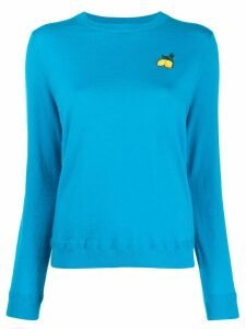 Chinti & Parker patch detail jumper - Blue