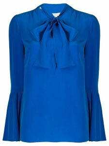 Michael Michael Kors pussy bow blouse - Blue