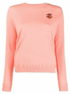 Chinti and Parker anchor embroidered sweater - PINK