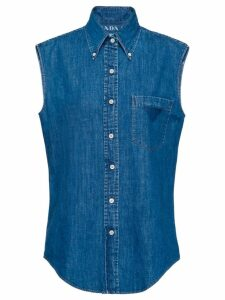 Prada sleeveless denim shirt - Blue