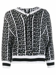 Just Cavalli logo print hoodie - White