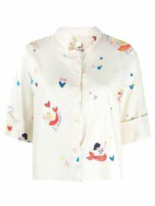 Chinti & Parker mermaid print blouse - Neutrals
