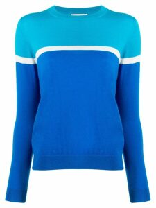 Chinti & Parker two tone sweater - Blue