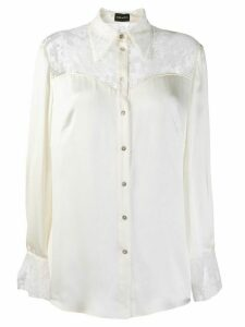 Magda Butrym lace panel blouse - Neutrals