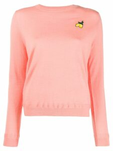 Chinti and Parker lemon embroidered sweater - PINK