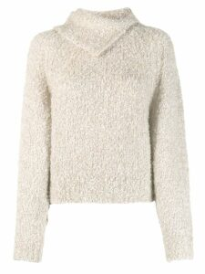 See By Chloé pointed collar jumper - NEUTRALS