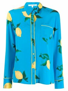 Chinti & Parker lemon-print silk shirt - Blue