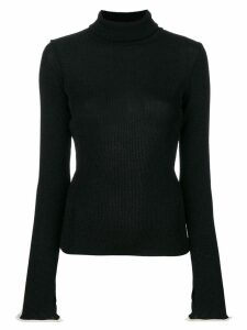 Ssheena ribbed roll neck sweater - Black