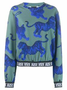 Just Cavalli tiger pattern sweatshirt - Green