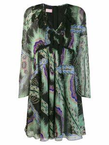 Giamba feather appliqués dress - Black