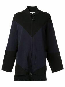 Layeur two-tone oversized bomber jacket - Black