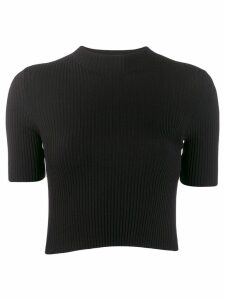 MRZ ribbed knitted top - Black