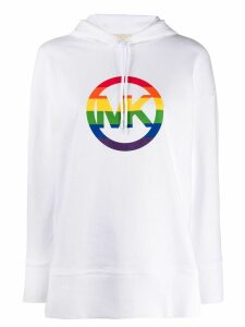 Michael Michael Kors rainbow logo hoodie - White