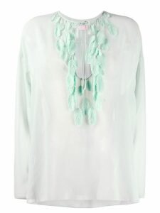 Giamba feather appliqué blouse - Green