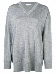 The Row fine-knit jumper - Grey