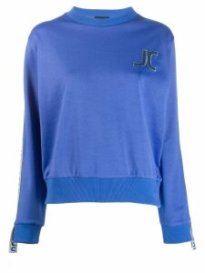 Just Cavalli embroidered logo sweatshirt - Blue