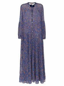 Figue Xiomara chiffon maxi dress - Blue
