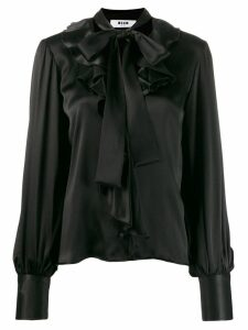 MSGM high shine lightweight shirt - Black