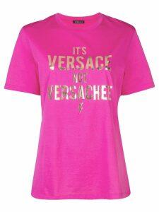 Versace Versachee-print T-shirt - PINK