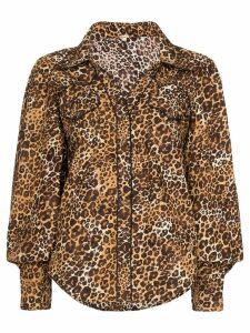 Johanna Ortiz leopard print blouse - Brown