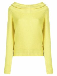 Emilio Pucci Lime Off The Shoulder Cashmere Jumper - Yellow