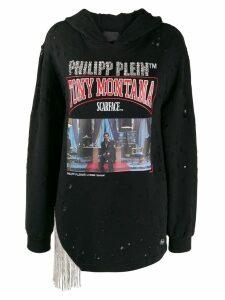 Philipp Plein Scarface embellished hoodie - Black