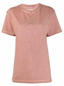 A-Cold-Wall* logo print crew neck T-shirt - Pink