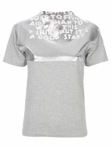 Mm6 Maison Margiela V-neck T-shirt - Metallic