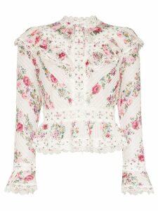 Zimmermann Honour floral print top - White