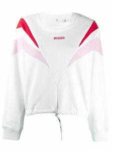 Levi's logo panelled sweatshirt - White
