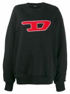 Diesel contrast logo sweatshirt - Black